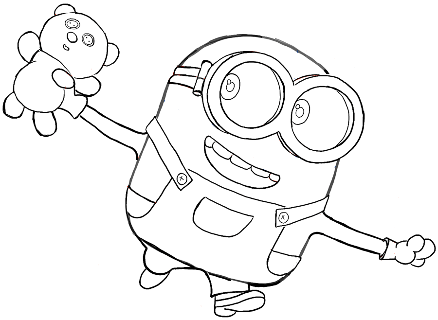 bob the minion coloring pages bob stuart kevin free coloring page to print three minions the pages coloring minion bob