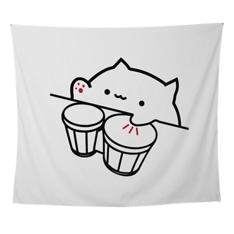 bongo cat coloring pages bongo cat viral music cute cat meme wall tapestry by admin pages bongo cat coloring