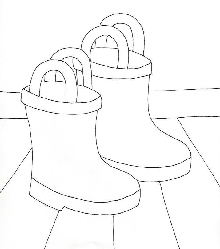 boots coloring pages autumn rain boots coloring page boots pages coloring