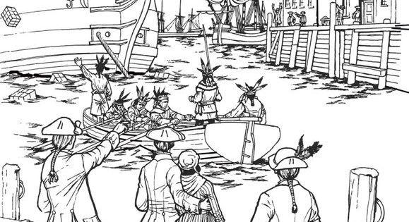 boston tea party coloring page all things john adams coloring pages boston tea party page boston coloring party tea