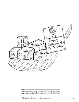 boston tea party coloring page boston tea party coloring book level a by writebonnierose tea boston page party coloring