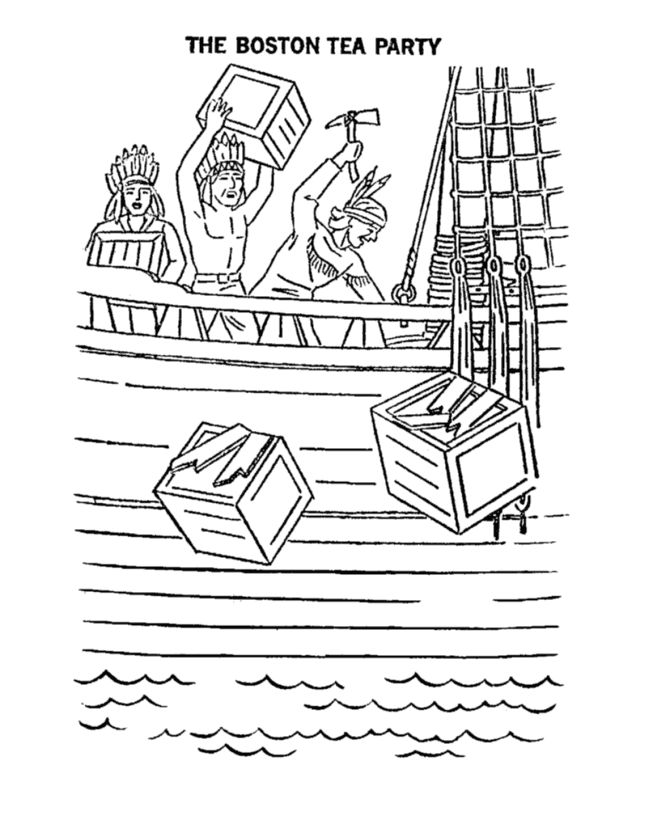 boston tea party coloring page boston tea party drawing at getdrawings free download tea party page coloring boston