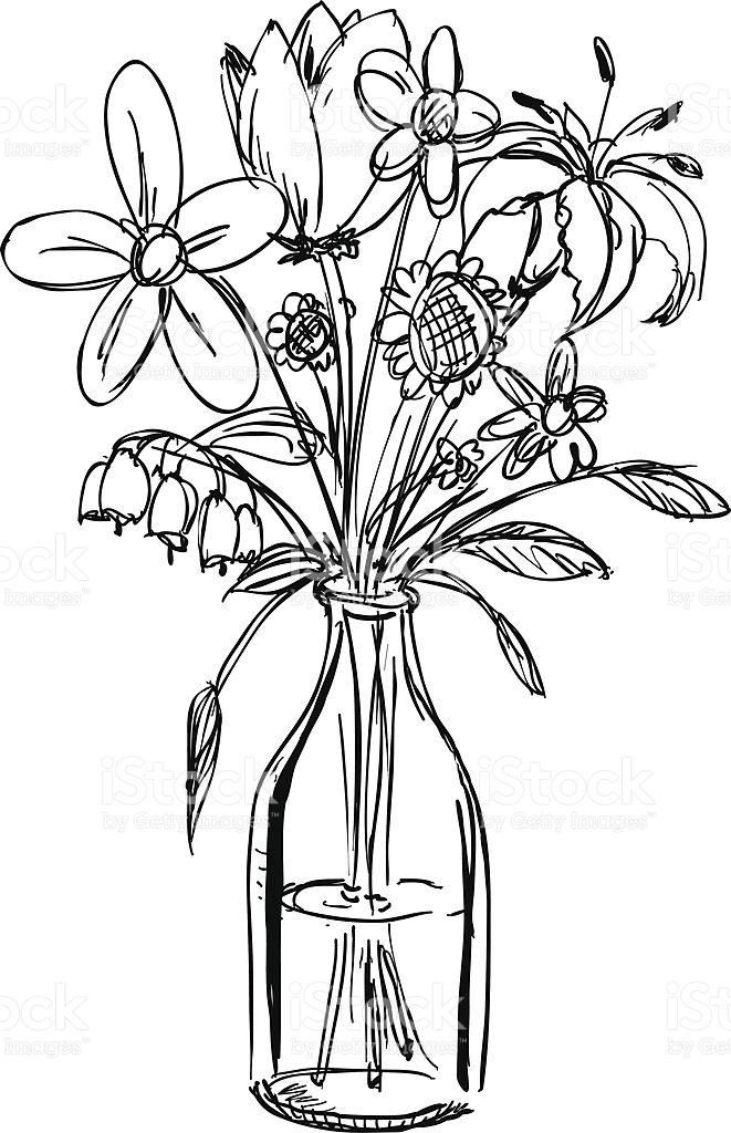 bouquet of flowers drawing bouquet of flowers coloring page free printable coloring drawing of bouquet flowers