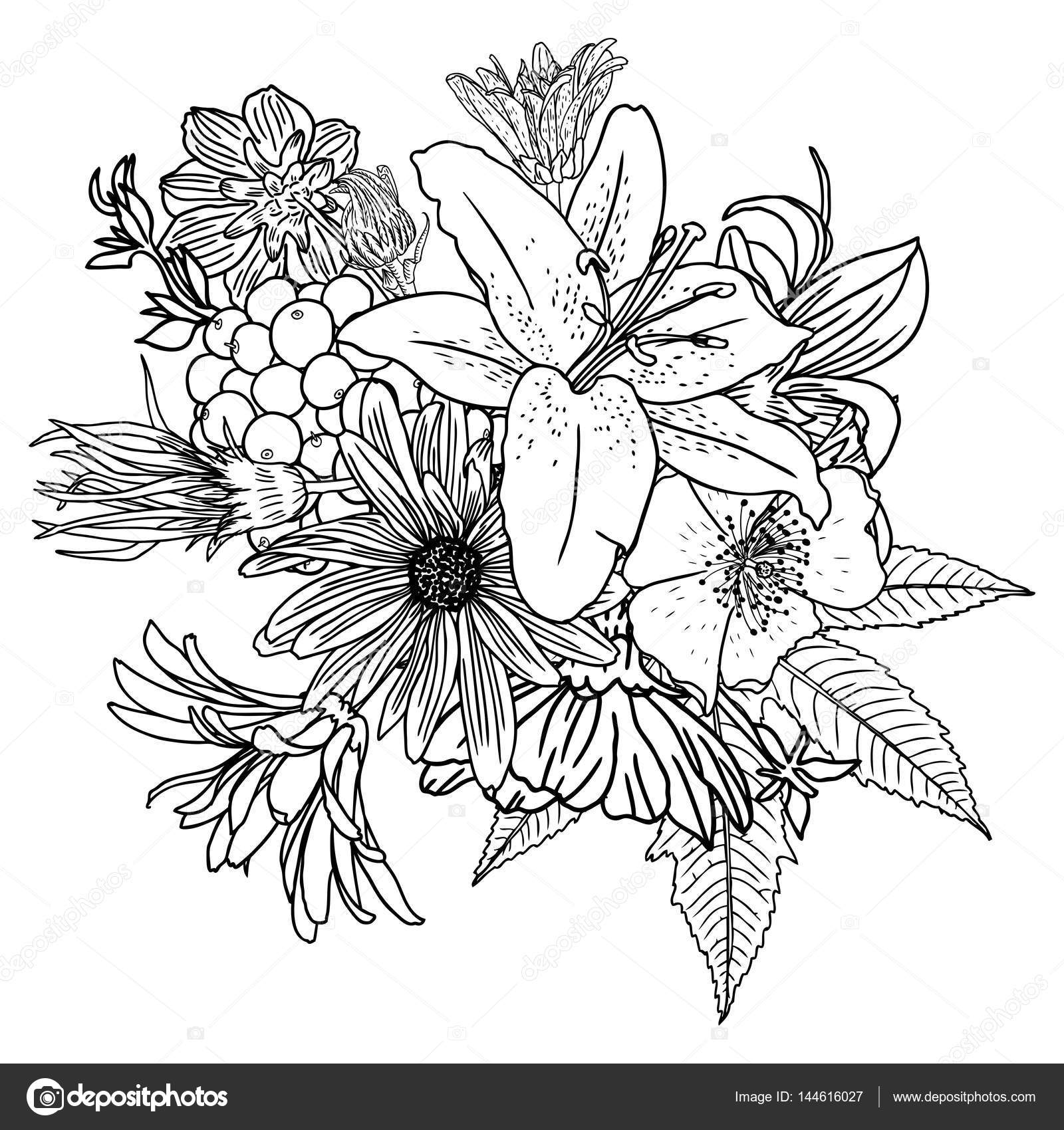 bouquet of flowers drawing clipart panda free clipart images flowers bouquet drawing of