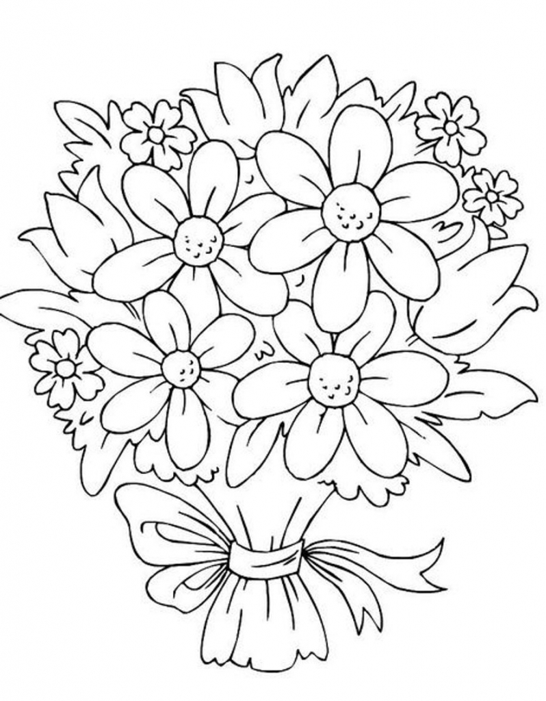 bouquet of flowers drawing draw bunch of flowers bunch of flowers drawing flower bouquet of drawing flowers