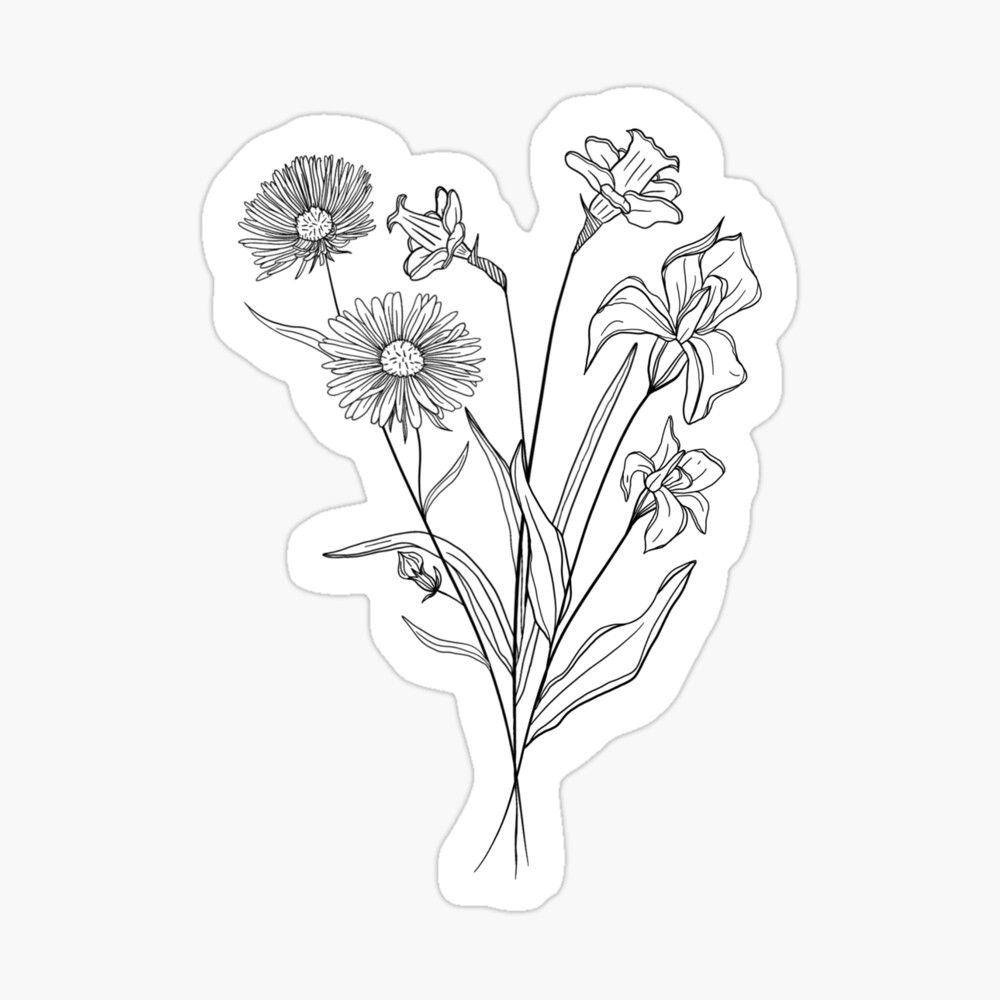 bouquet of flowers drawing lavender bouquet drawing at getdrawings free download of drawing bouquet flowers