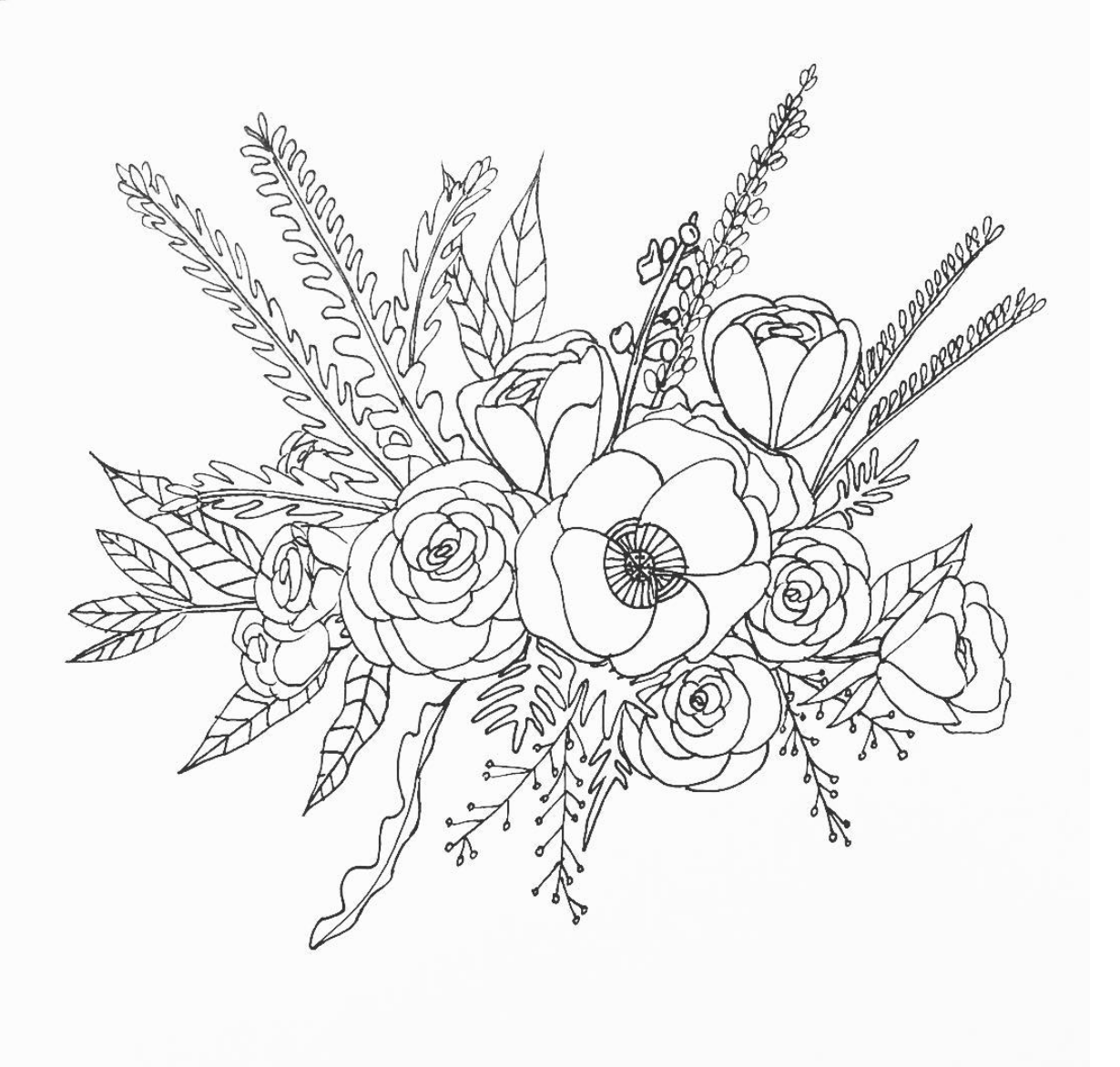 bouquet of flowers drawing simple flower bouquet drawing flowers healthy flower of flowers drawing bouquet