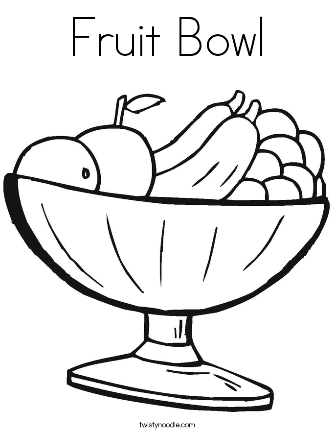 bowl of fruit coloring page coloring pages of fruit basket coloring home fruit coloring page of bowl
