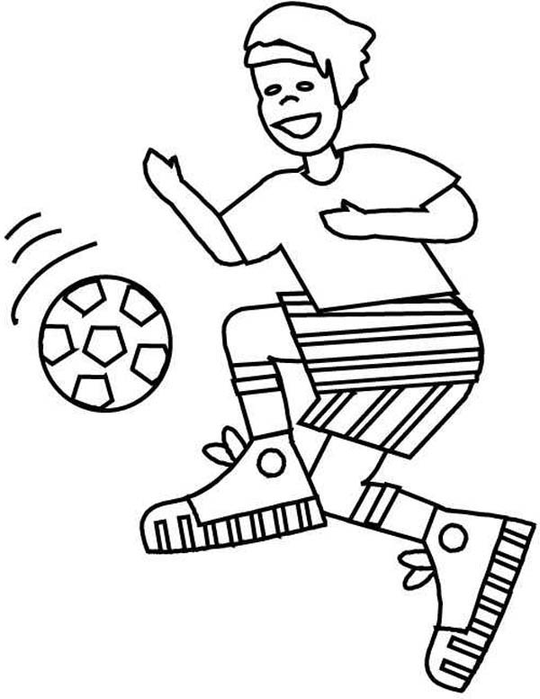 boy coloring games a boy with perfect ball handling on soccer game coloring games coloring boy