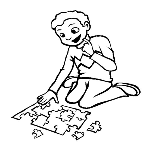 boy coloring games the boy playing puzzle games coloring page coloring pages coloring games boy