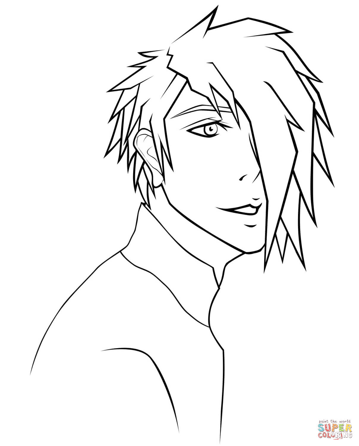 boy easy anime coloring pages anime boy coloring pages coloring pages to download and coloring anime boy pages easy