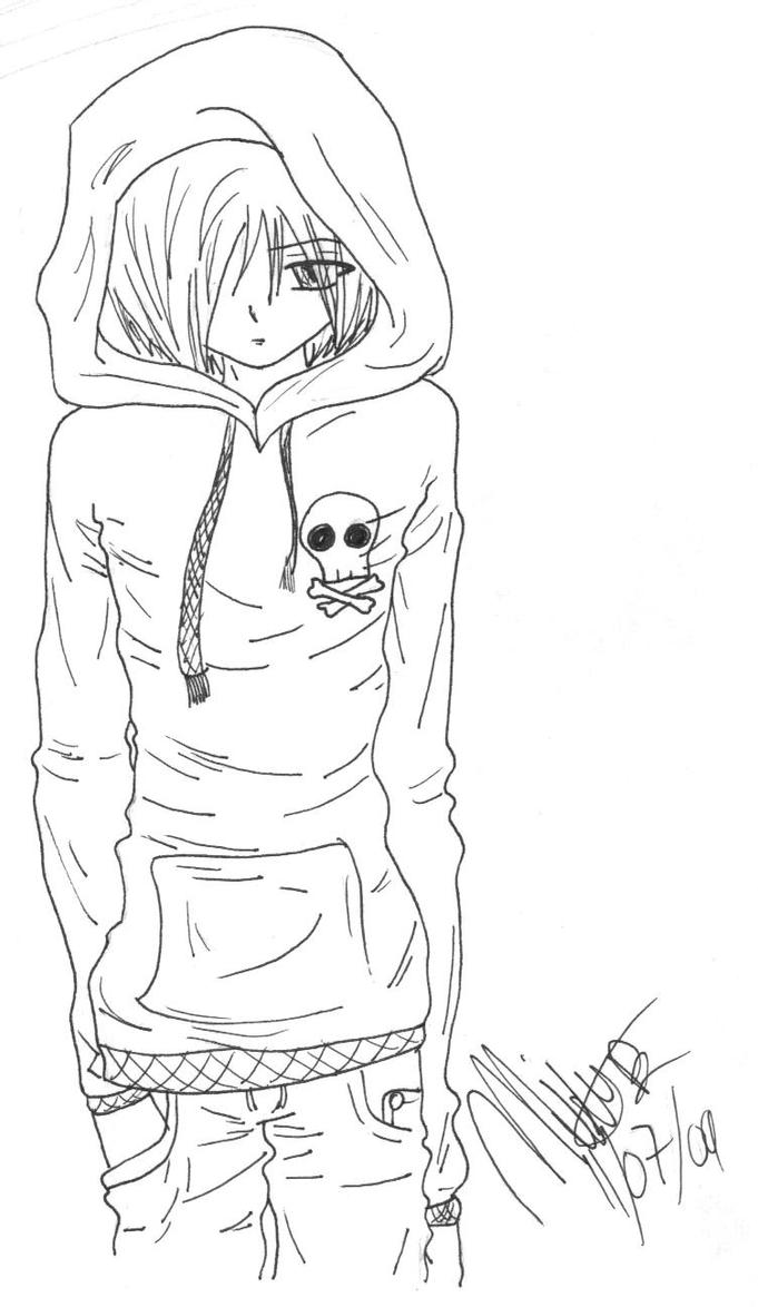 boy easy anime coloring pages anime emo boy drawing at getdrawings free download coloring easy boy anime pages