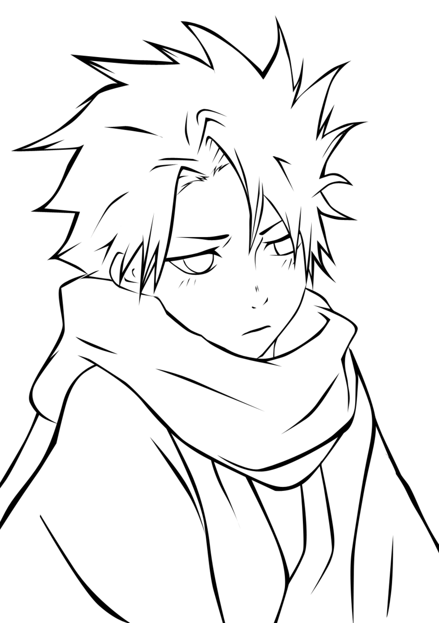 boy easy anime coloring pages coloring pages of anime boys at getcoloringscom free anime coloring easy pages boy