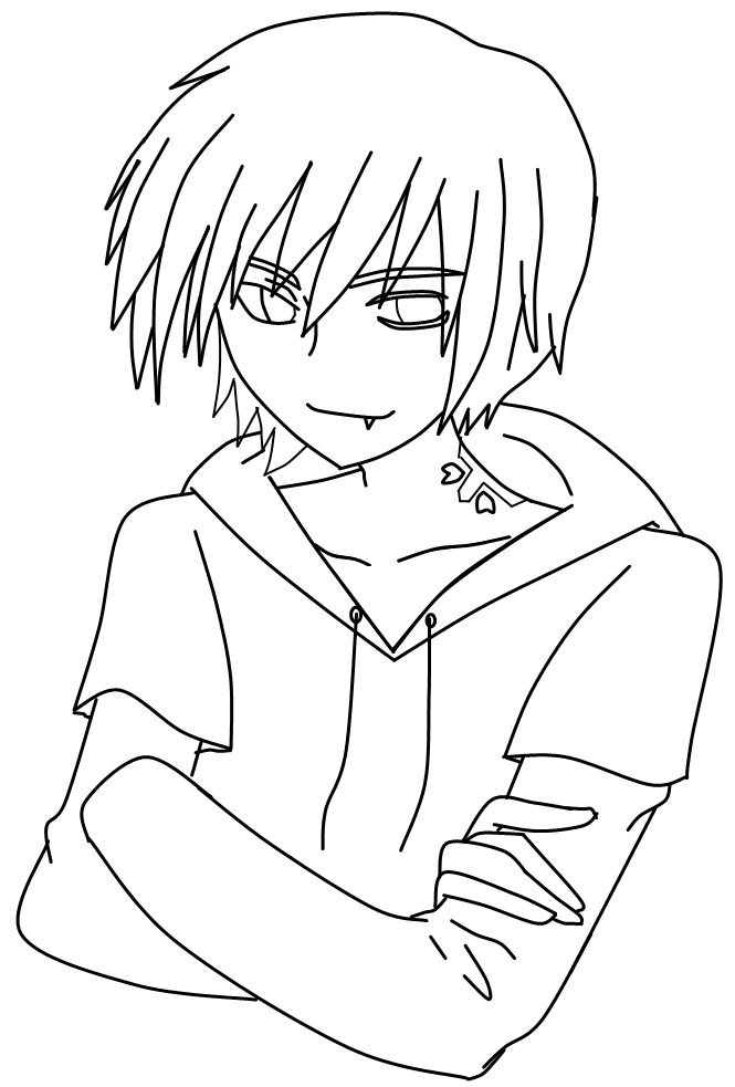 boy easy anime coloring pages manga boys drawing at getdrawings free download pages boy easy coloring anime
