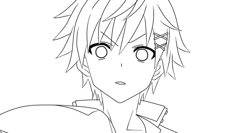 boy easy anime coloring pages neko boy by bxbbless on deviantart coloring boy anime easy pages