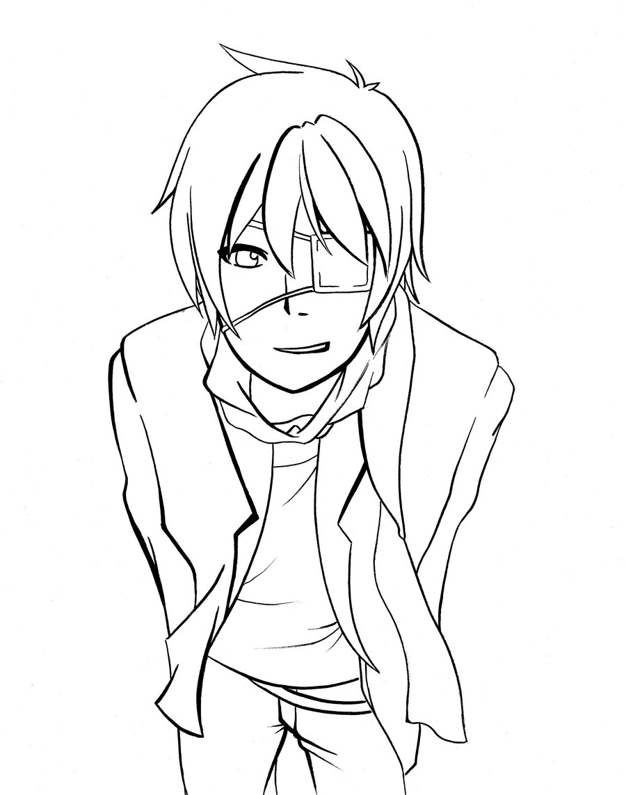 boy easy anime coloring pages neko boy photoshop lineart d by voctavian85 neko boy boy anime pages easy coloring