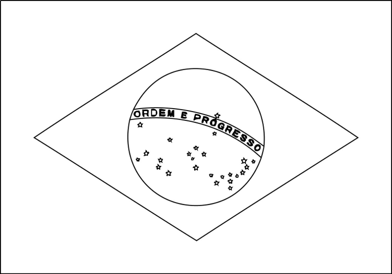 brazil flag to color brazil flag coloring page brazil flag clipart black and flag color brazil to