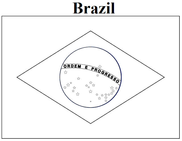 brazil flag to color brazil flag drawing at getdrawings free download to flag color brazil