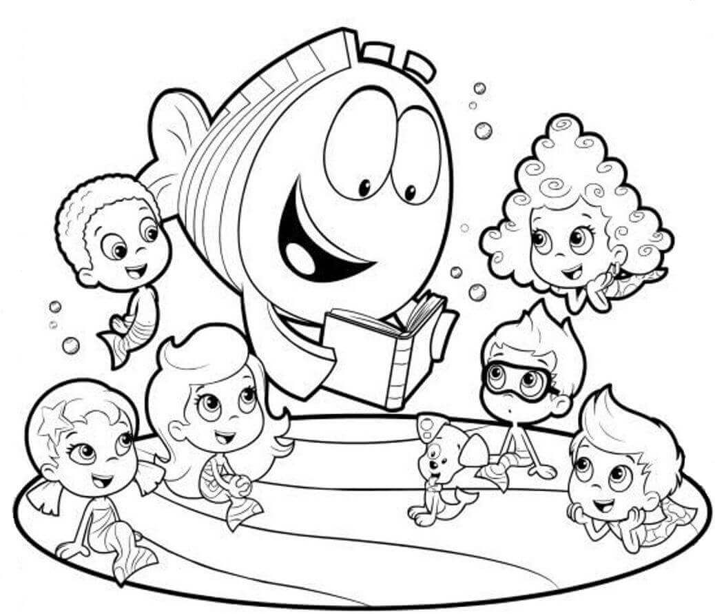 bubble guppies coloring page 25 free printable bubble guppies coloring pages coloring guppies page bubble