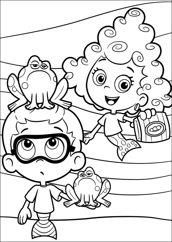 bubble guppies coloring page black and white mona lisa clipartsco bubble guppies coloring page