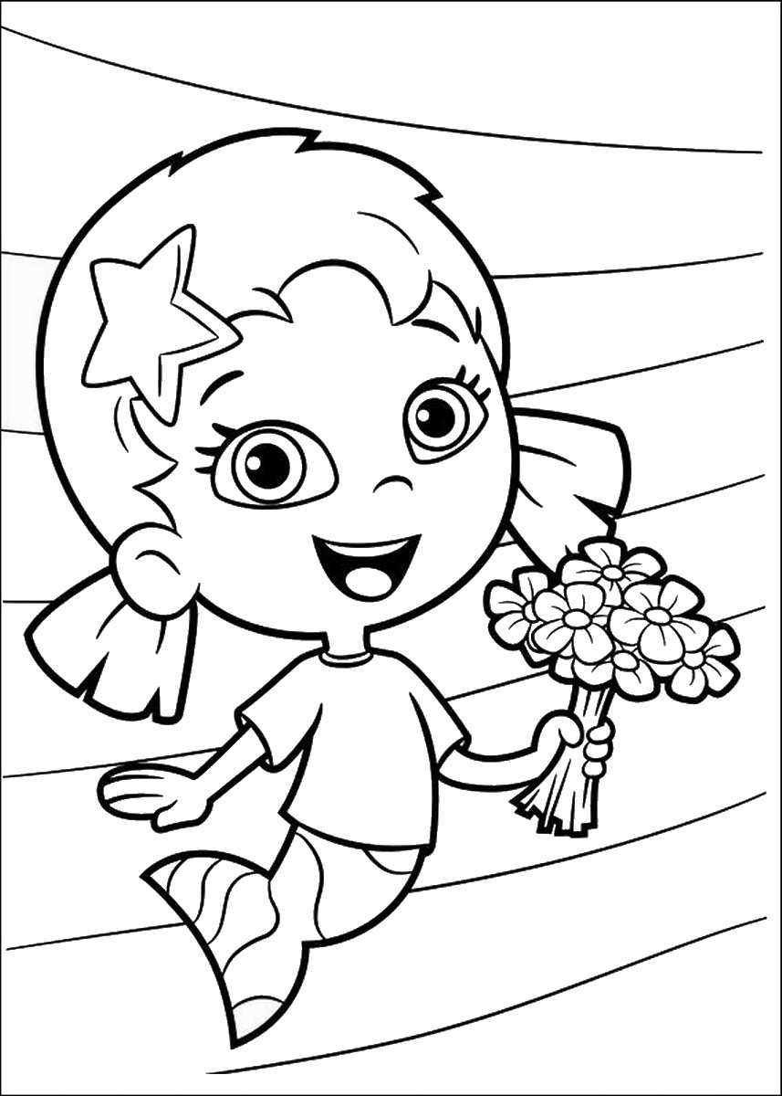 bubble guppies coloring page bubble guppies coloring page page guppies coloring bubble