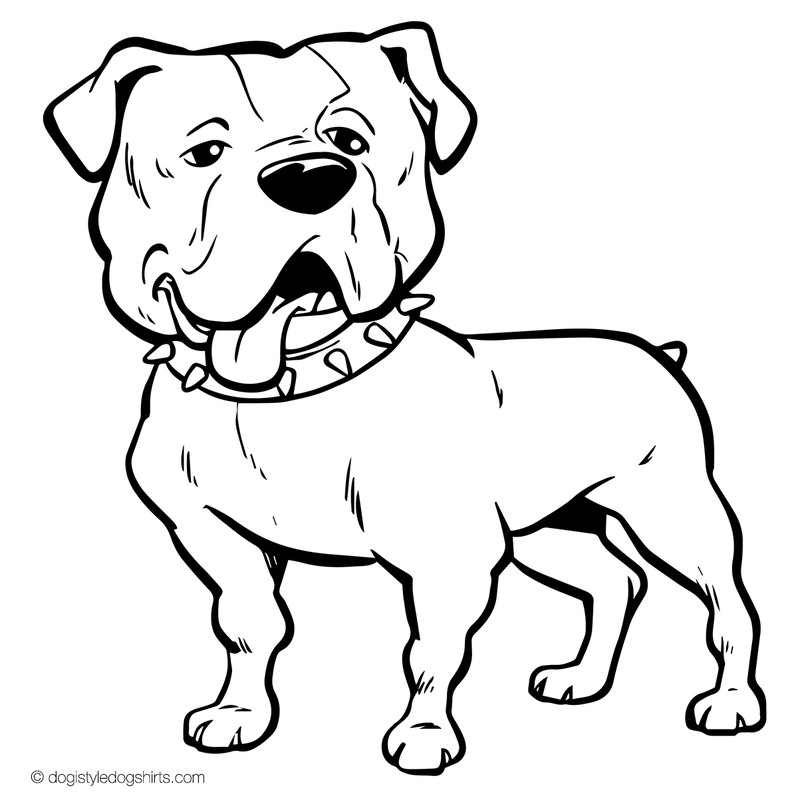 bulldogs coloring pages bulldog face drawing at getdrawings free download coloring bulldogs pages