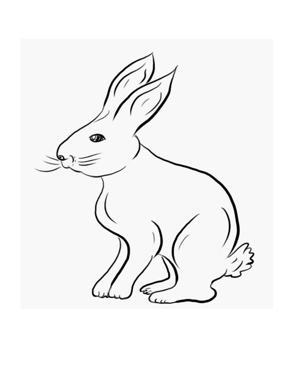 bunny printable 60 rabbit shape templates and crafts colouring pages printable bunny 1 1