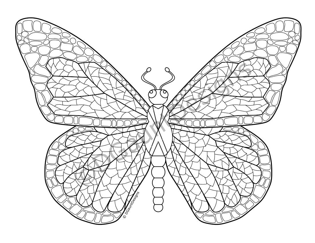 butterfly mosaic coloring page butterfly mosaic coloring page online mosaic butterfly coloring page