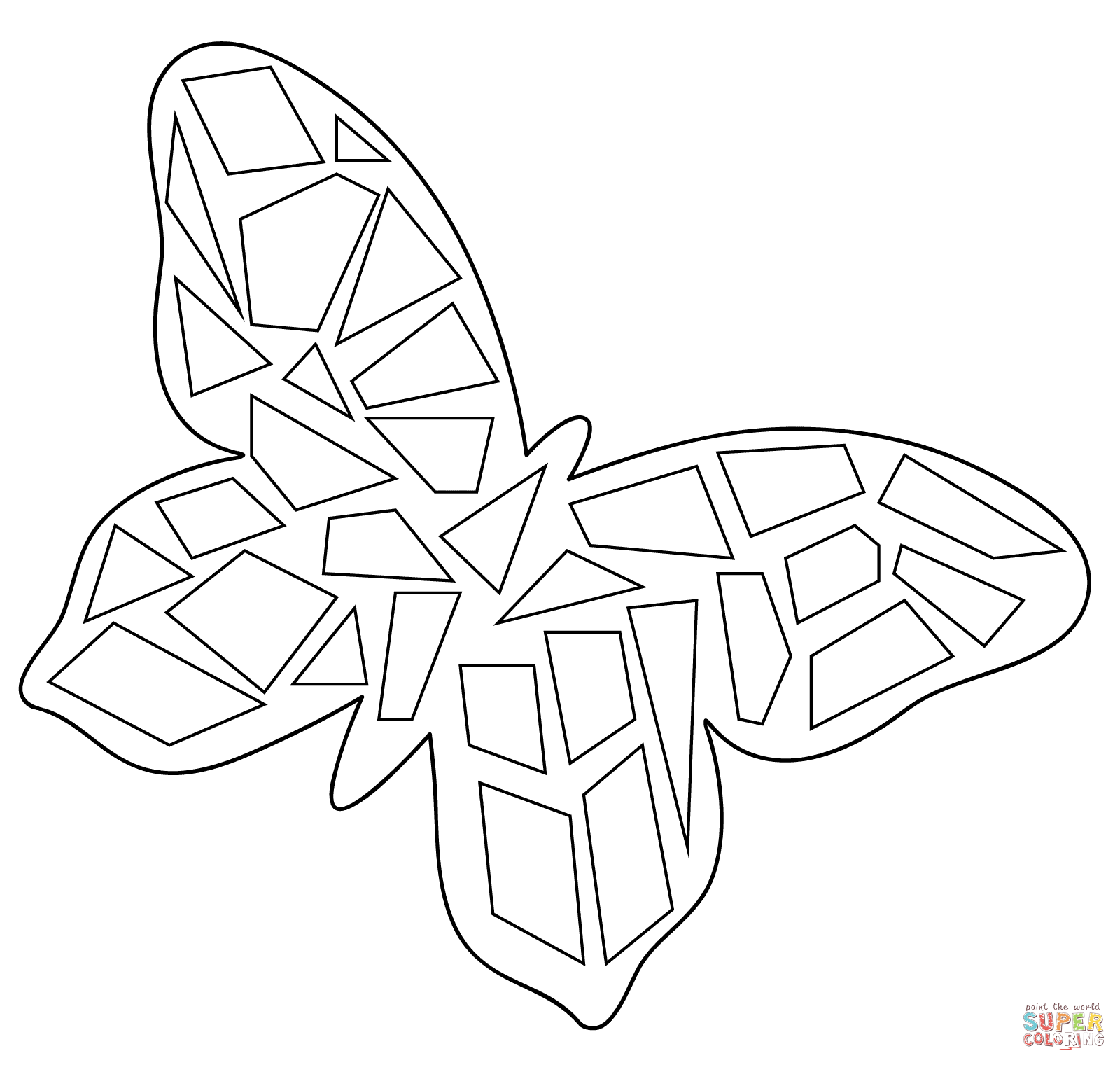 butterfly mosaic coloring page mosaic butterfly digital adult coloring page page mosaic coloring butterfly