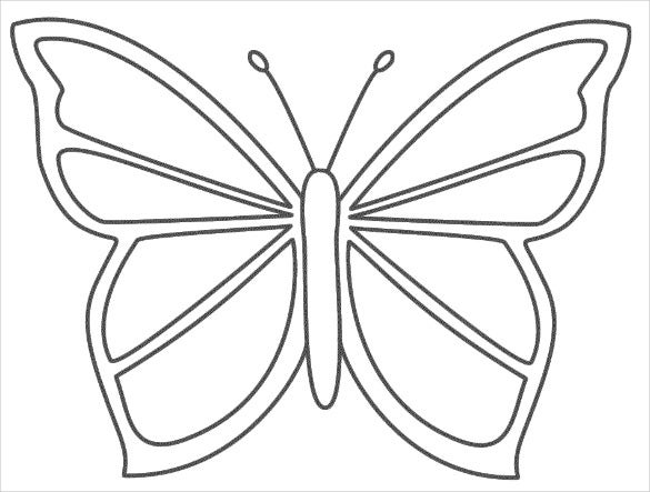 butterfly printable free printable butterfly templates different size butterfly printable