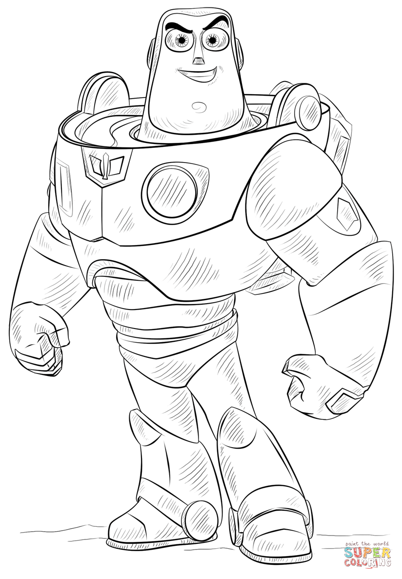 buzz lightyear for coloring free printable buzz lightyear coloring pages for kids buzz coloring for lightyear