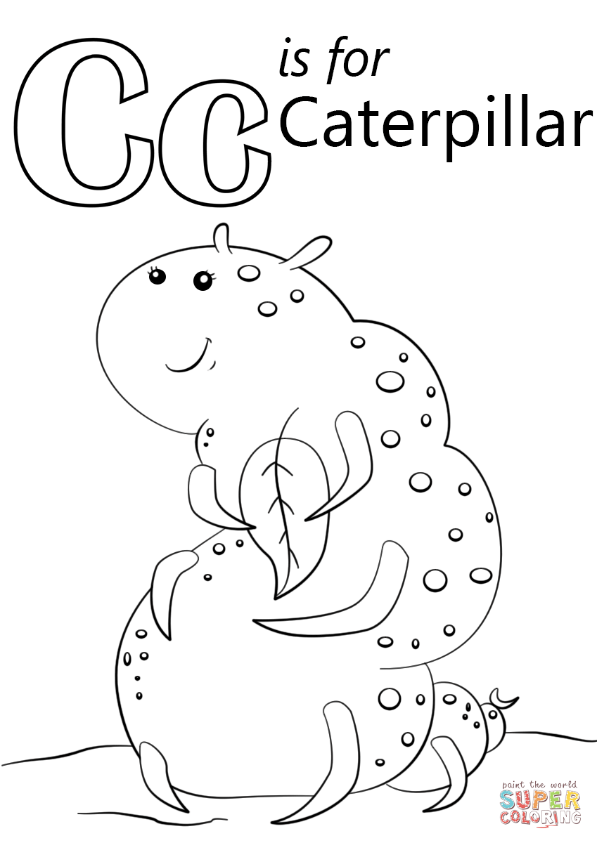 c is for caterpillar coloring page c for caterpillar coloring page with handwriting practice c coloring page is for caterpillar