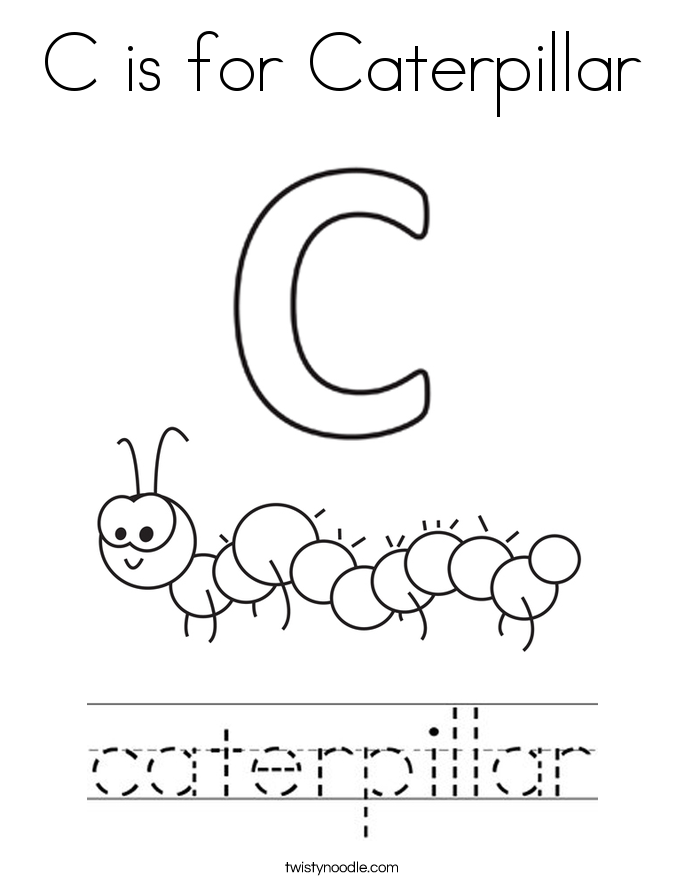 c is for caterpillar coloring page c is for caterpillar coloring page twisty noodle c coloring is page for caterpillar