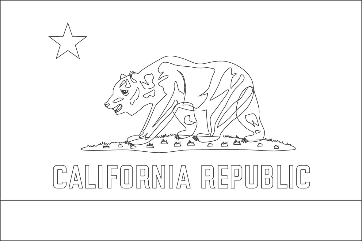 california state flag coloring page california flag coloring page purple kitty flag coloring california state page