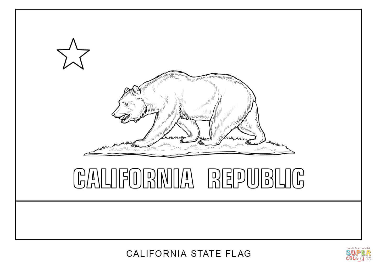 california state flag coloring page california state flag coloring page coloring home flag coloring state california page