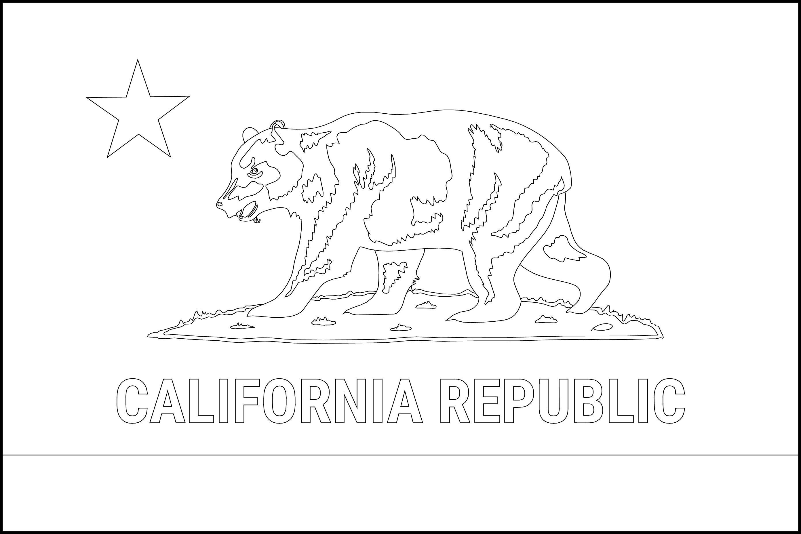 california state flag coloring page california state flag coloring page coloring page flag california state