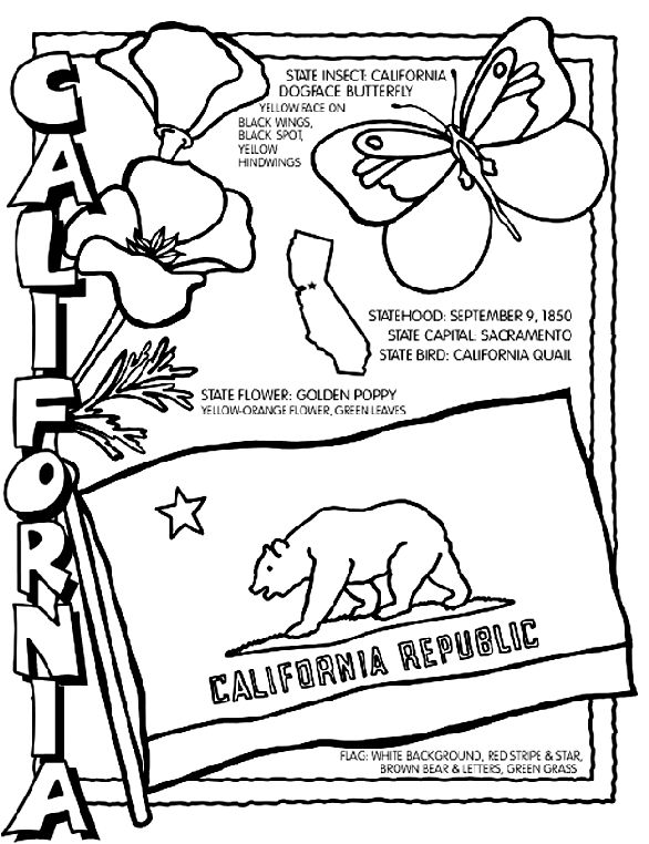california state flag coloring page colouring book of flags united states of america california state flag coloring page