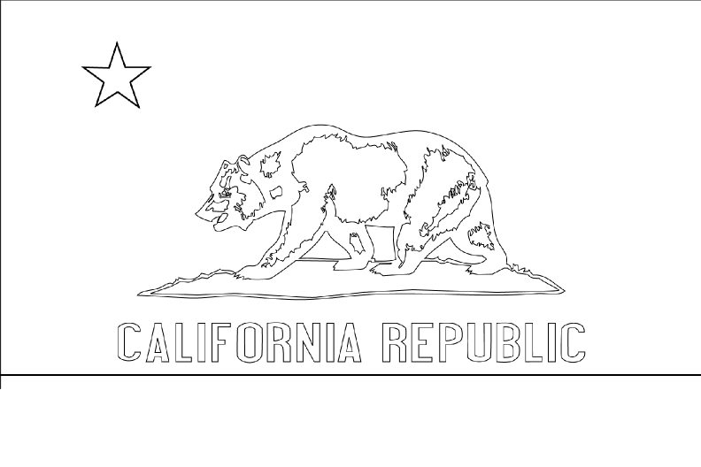 california state flag coloring page state flag of california coloring page color luna page flag state california coloring