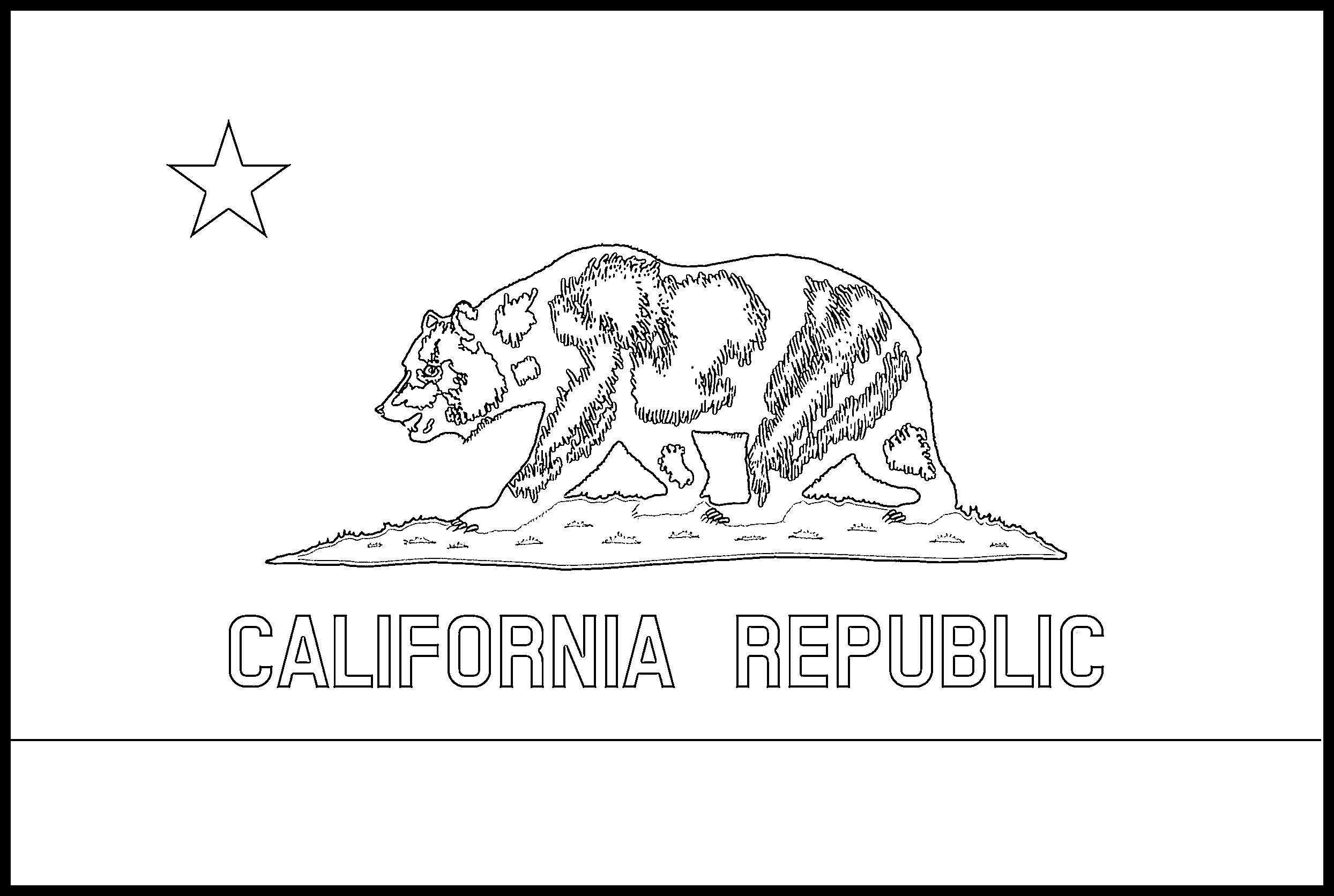 california state flag coloring page usa printables california state flag state of california coloring state flag page