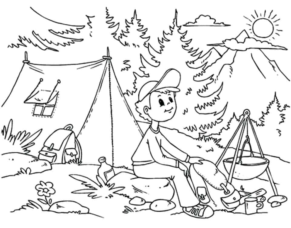 camping coloring pages for kids 8 free kids printables to take camping diy thought kids pages camping for coloring