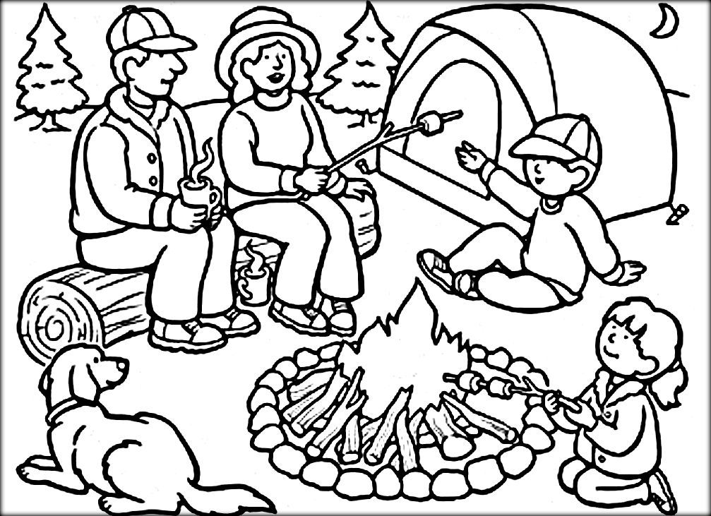 camping coloring pages for kids camping coloring pages color zini omaľovánky obrázky pages camping kids for coloring