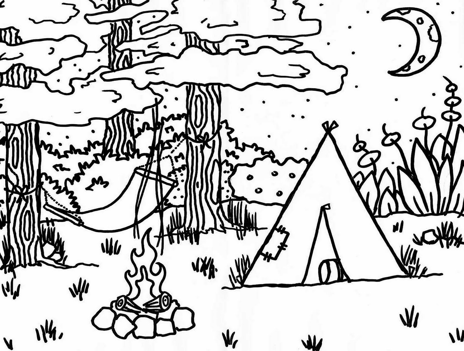 camping coloring pages for kids camping coloring pages getcoloringpagescom for camping kids coloring pages