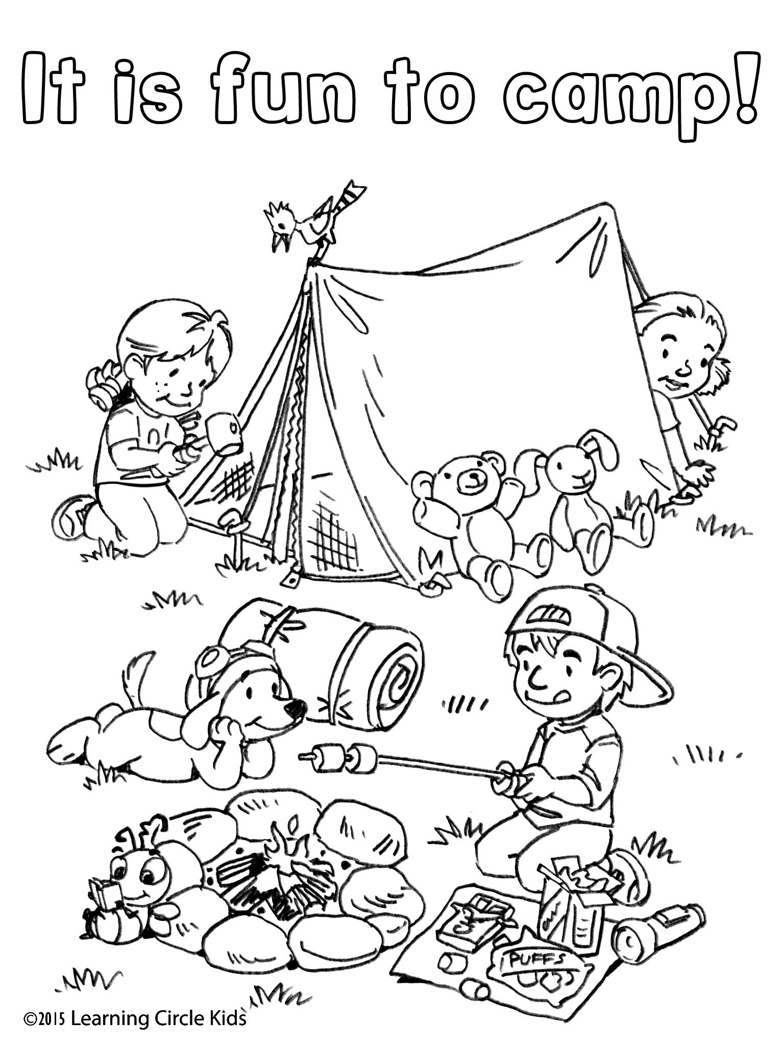 camping coloring pages for kids reader bee camping coloring pages camping theme camping kids coloring pages for
