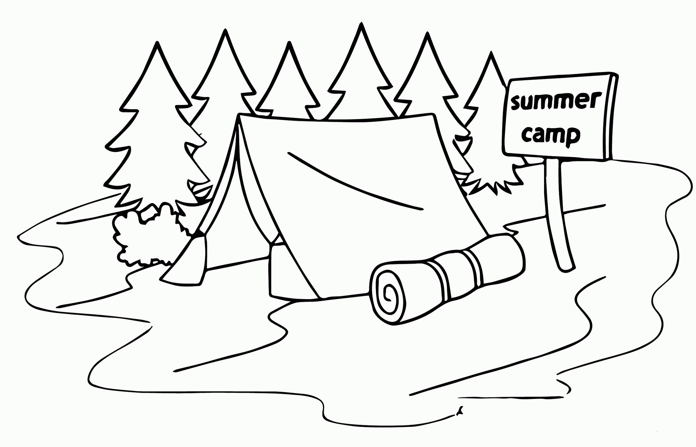 camping coloring pages for kids summer camp tent coloring page for kids for pages camping coloring kids