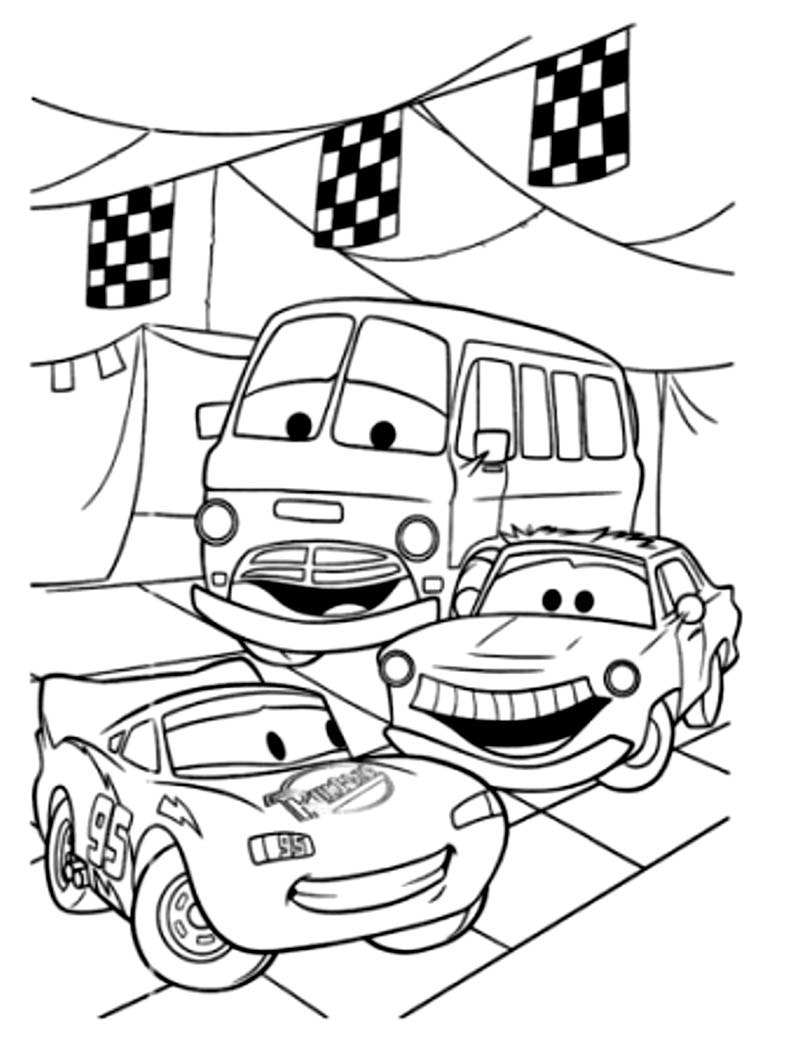 cars pictures to colour cars coloring pages coloringpages1001com to cars pictures colour