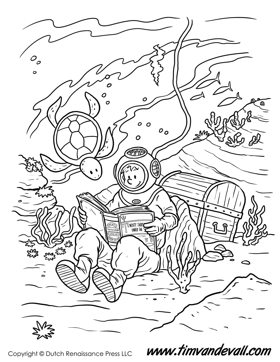 cartoon underwater coloring pages under the sea coloring pages to download and print for free cartoon underwater pages coloring