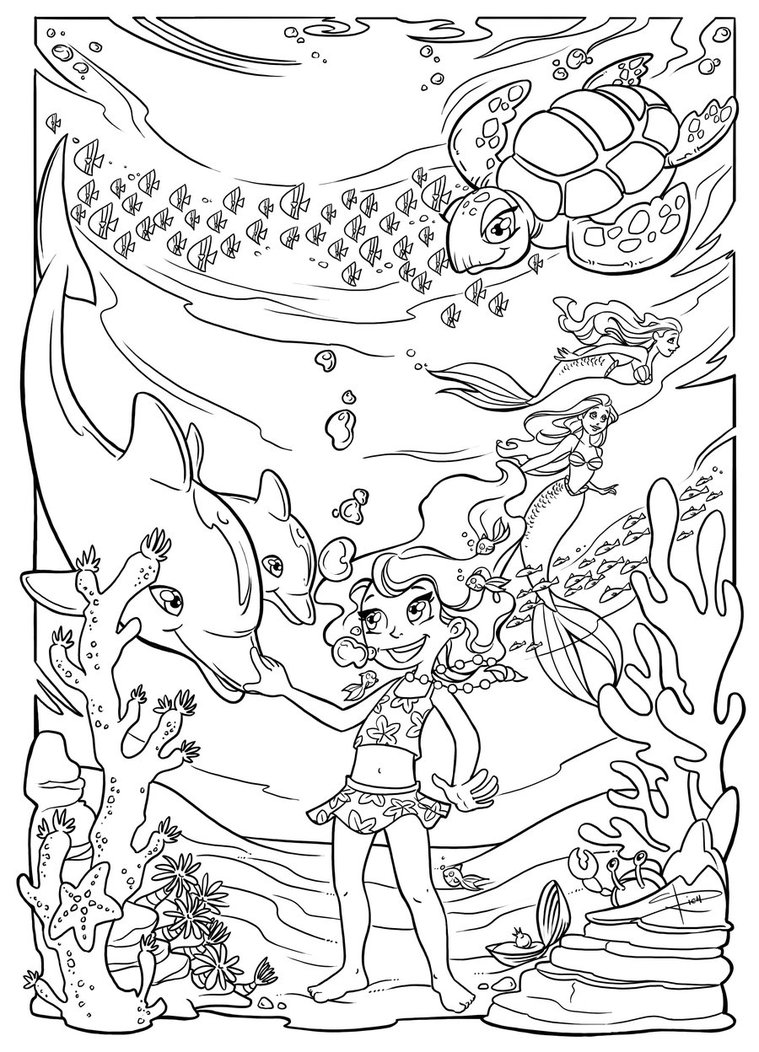 cartoon underwater coloring pages underwater coloring pages to download and print for free pages underwater cartoon coloring
