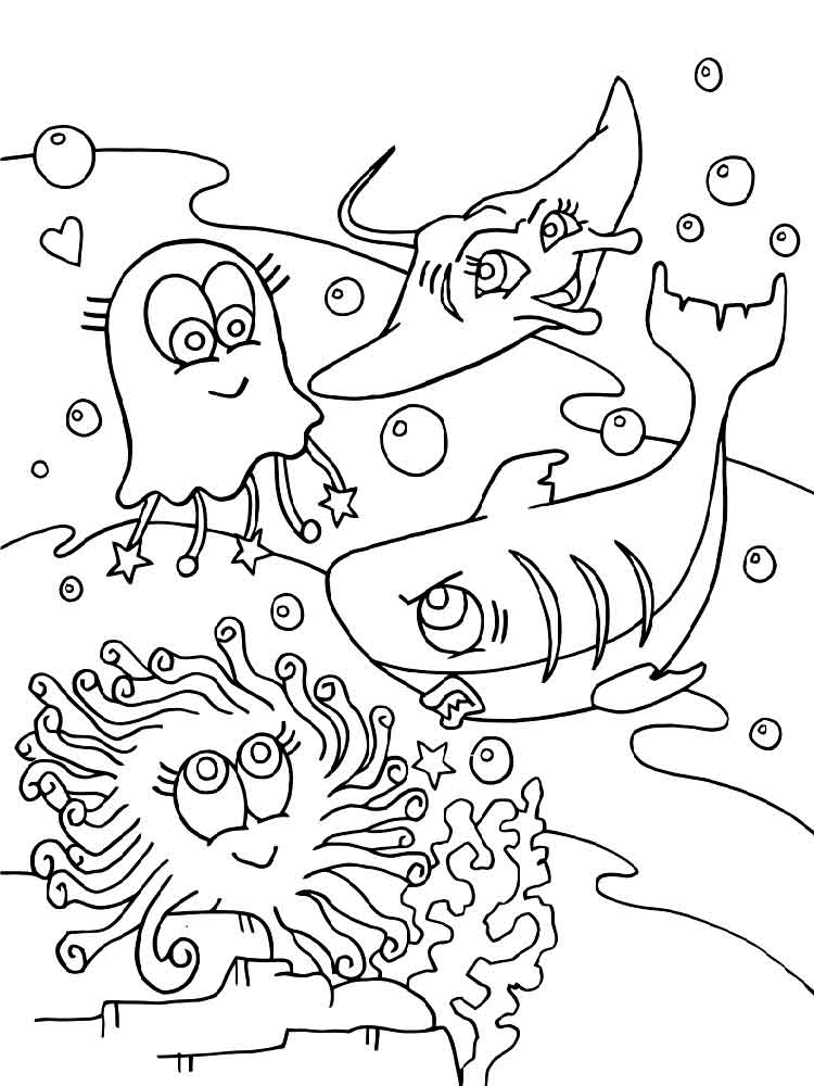 cartoon underwater coloring pages underwater world coloring pages download and print pages underwater coloring cartoon