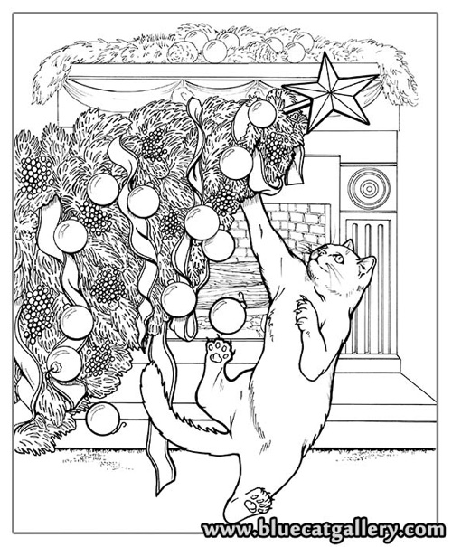 cat christmas coloring pages best coloring books for cat lovers cleverpedia pages christmas cat coloring