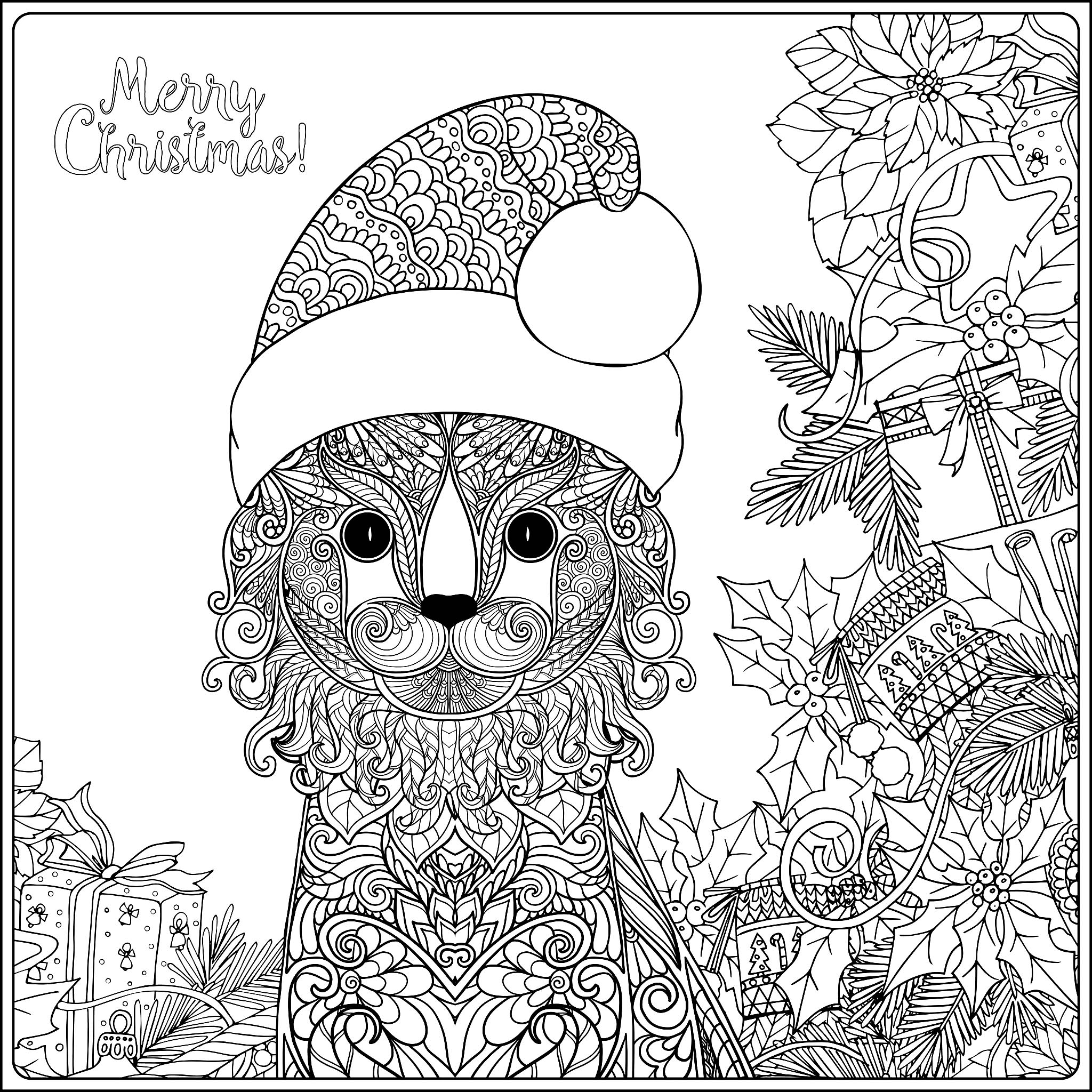 cat christmas coloring pages free printable christmas cat coloring page download it pages christmas coloring cat